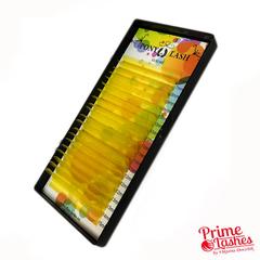 Ресницы Pony Lash цветные микс 20 линий, Желтые