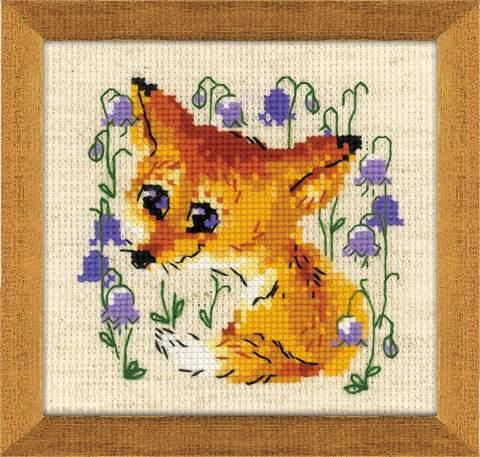 Набор для вышивания крестом «Маленький лисенок» (1776)