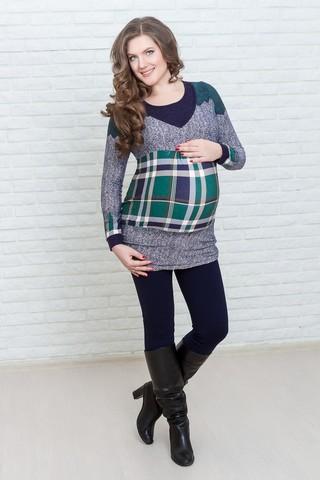 Туника для беременных и кормящих 07165 синий