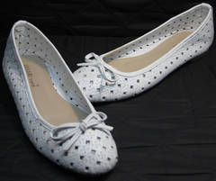 Модные балетки Vasari Gloria 19Y38840 White.