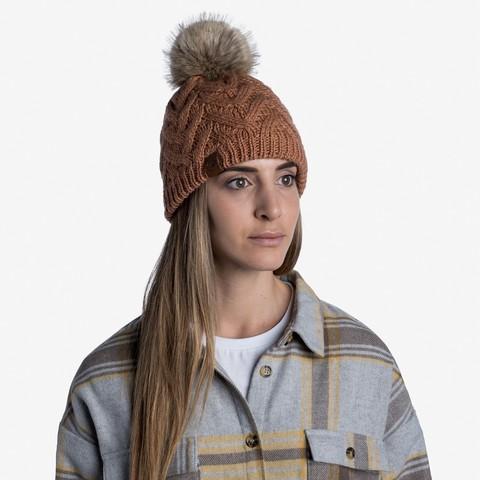Шапка вязаная с флисом Buff Hat Knitted Polar Caryn Rosewood фото 2
