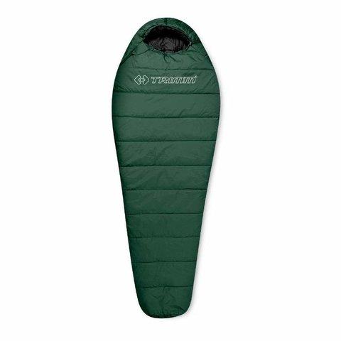 Спальный мешок Trimm Trekking TRAPER, 195 R (зеленый, камуфляж, синий)