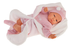 Munecas Antonio Juan Кукла Эдурне в розовом, озвученная (детский лепет), 52 см (1954)