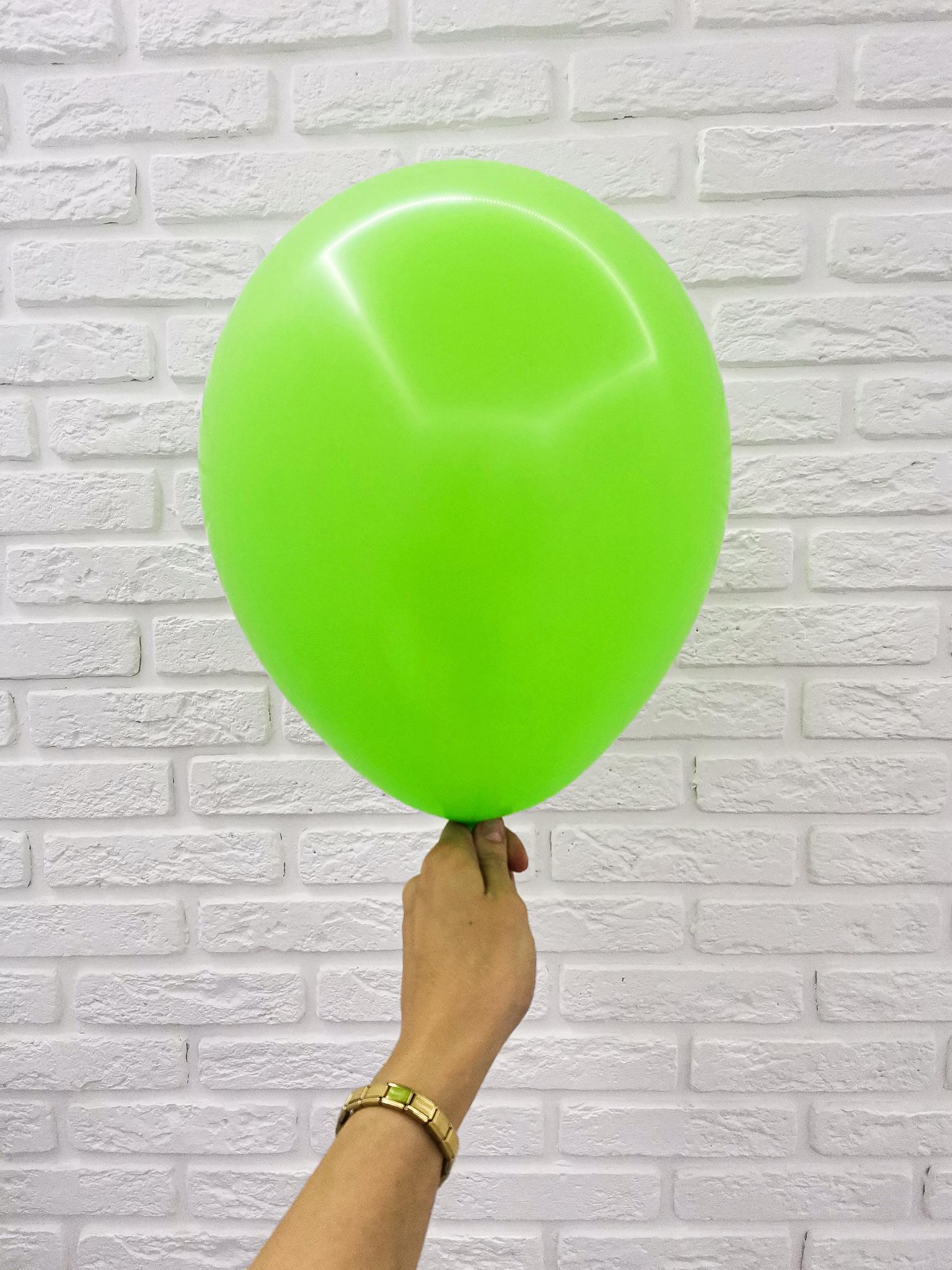 №8 Зеленый Гелиевый шар пастель 30см с обработкой