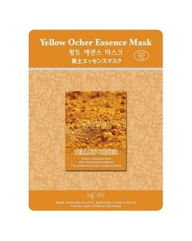 Маска тканевая для лица Mijin из желтой охры 23 гр