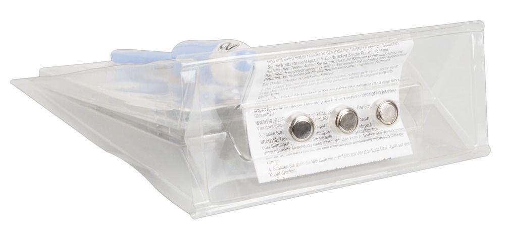 Голубой вибратор для уретры Dilator Vibe - 19 см.