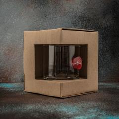 Стакан для виски «Медиатор» красный, крафт  300 мл, фото 3
