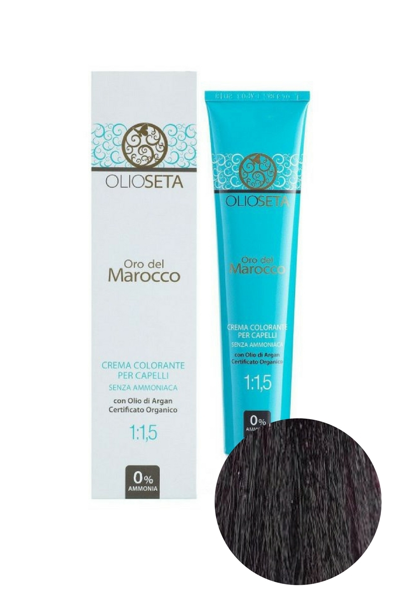 Крем-краска для волос 1.7 Черный фиолетовый Oro del Marocco, Barex