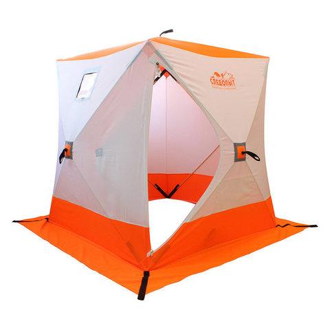 Зимняя палатка куб Следопыт 2,1*2,1 м Oxford 210D PU 1000 PF-TW-05/06 (белый/оранжевый)