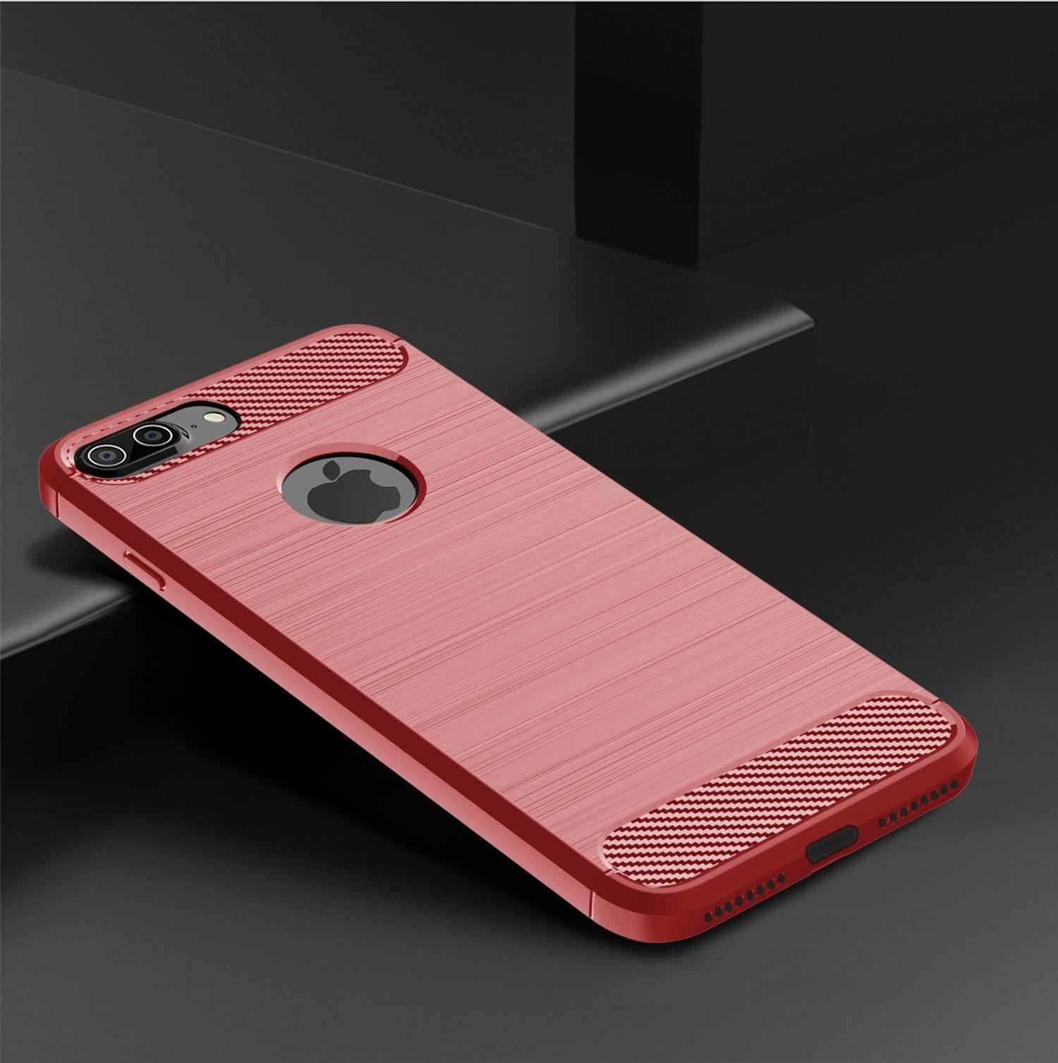 Чехол для iPhone 8 Plus цвет Red (красный), серия Carbon от Caseport