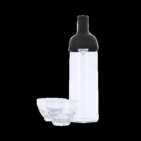 Универсальная заварочная бутылка HARIO + 2 чайные чашки, стекло