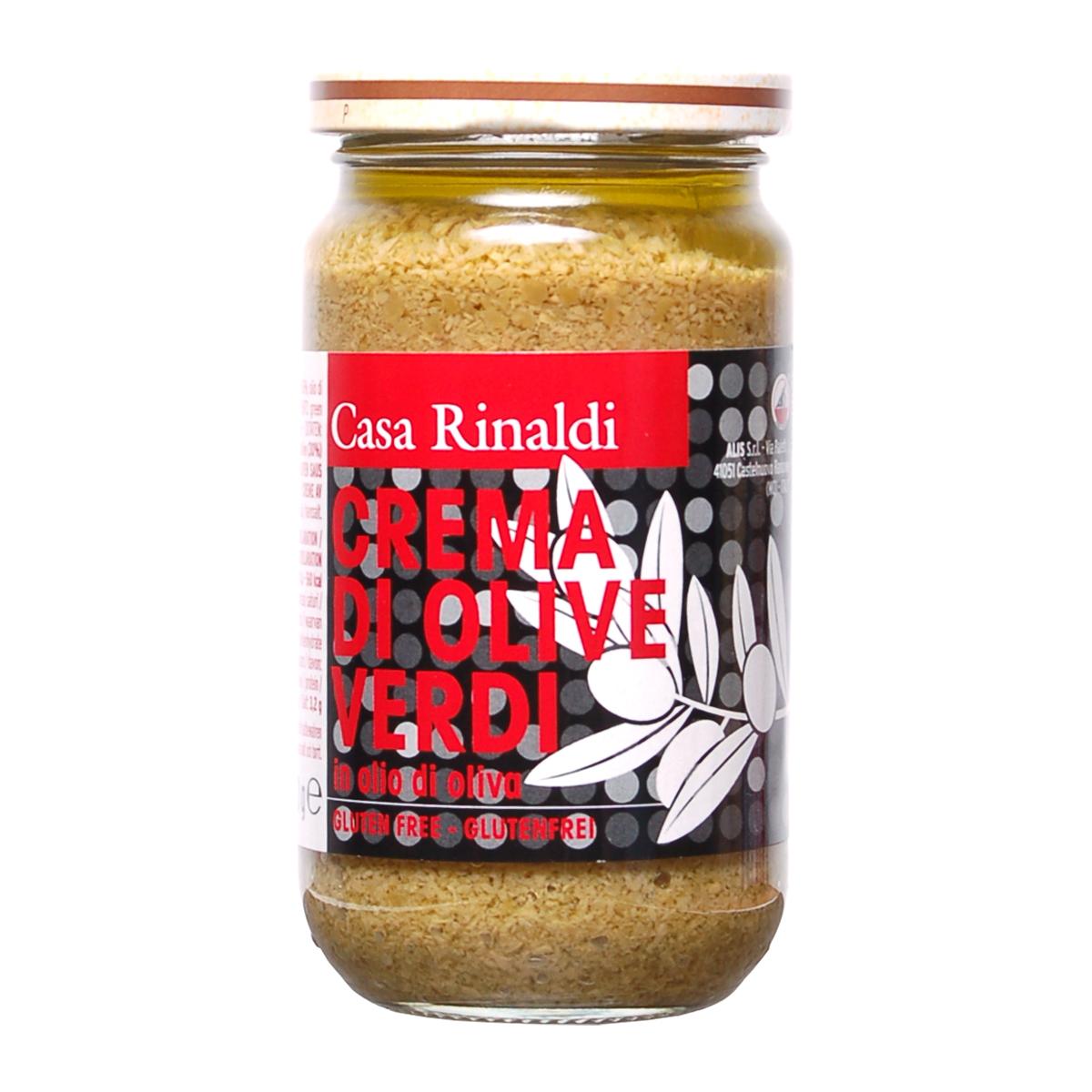 Крем-паста Casa Rinaldi из оливок в оливковом масле 180г