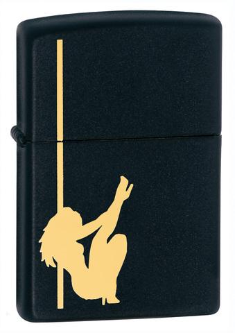 Зажигалка Zippo Classic с покрытием Black Matte, латунь/сталь, чёрная, матовая, 36x12x56 мм