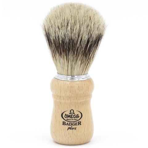 Помазок для бритья Omega B6228 натуральный барсук Badger plus