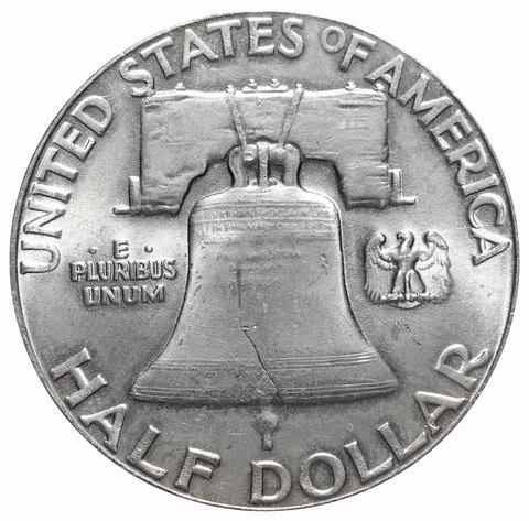 1/2 доллара США 1963 год (Франклин) XF-AU