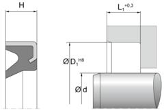 Грязесъемник AM54 | 95 TPU PU953401 Blue | 65 X 75 X 7 MM
