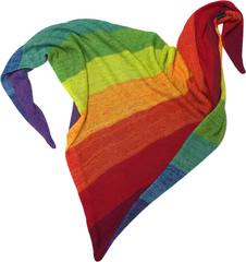 Радужный шарф - косынка - радуга