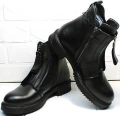 Стильные женские ботинки осень Tina Shoes 292-01 Black.