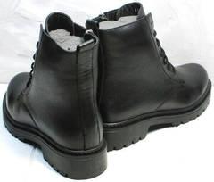Молодежные женские ботинки на низком ходу демисезон Misss Roy 252-01 Black Leather.