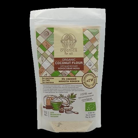 Мука кокосовая, органическая ORGANICA for all, 500 гр