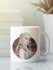 Кружка с рисунком Игра престолов, Дейенерис (Game of Thrones, Daenerys) белая 003