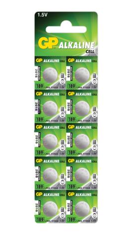 Батарейки GP 189-U10 Alkaline AG 10, LR1130