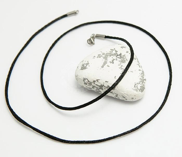 PL279-1 Мужской шнурок гайтан из шелка черного цвета фото 03