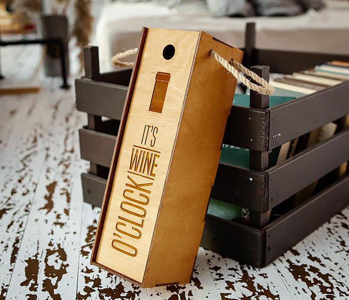 BOX244 Коробка из дерева для бутылки вина (33*10*10,5 см) фото 02