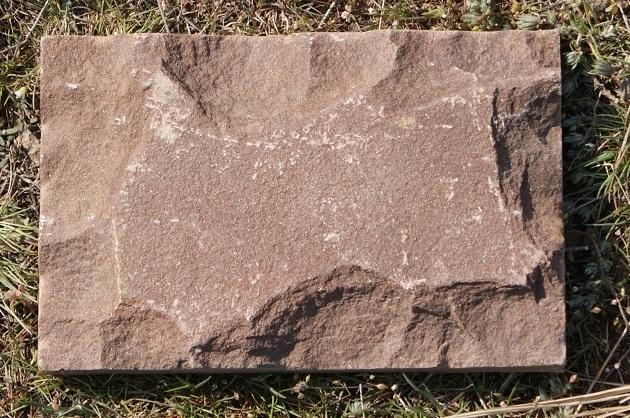 плитка песчаник пиленный рустованный Терракот (красный), фото вблизи