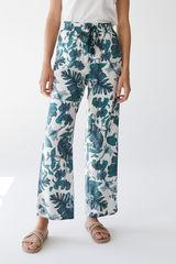Довгі штани з тропічним принтом