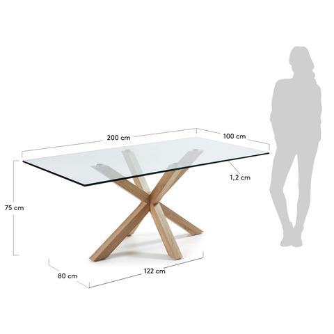 Стол Arya 200x100 металл стекло