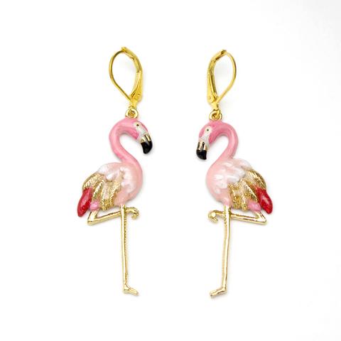 Серьги Фламинго