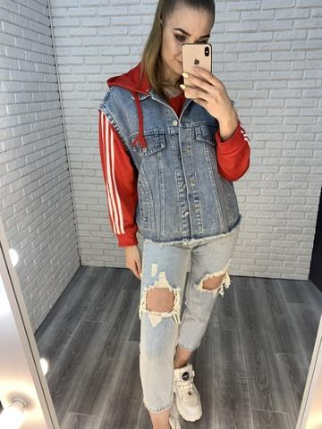 безрукавка джинсовая куртка купить