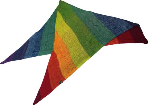 Радужный шарф - косынка