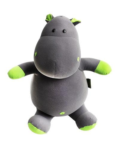 Мягкая игрушка-подушка Gekoko «Бегемот Няша», зеленый 2