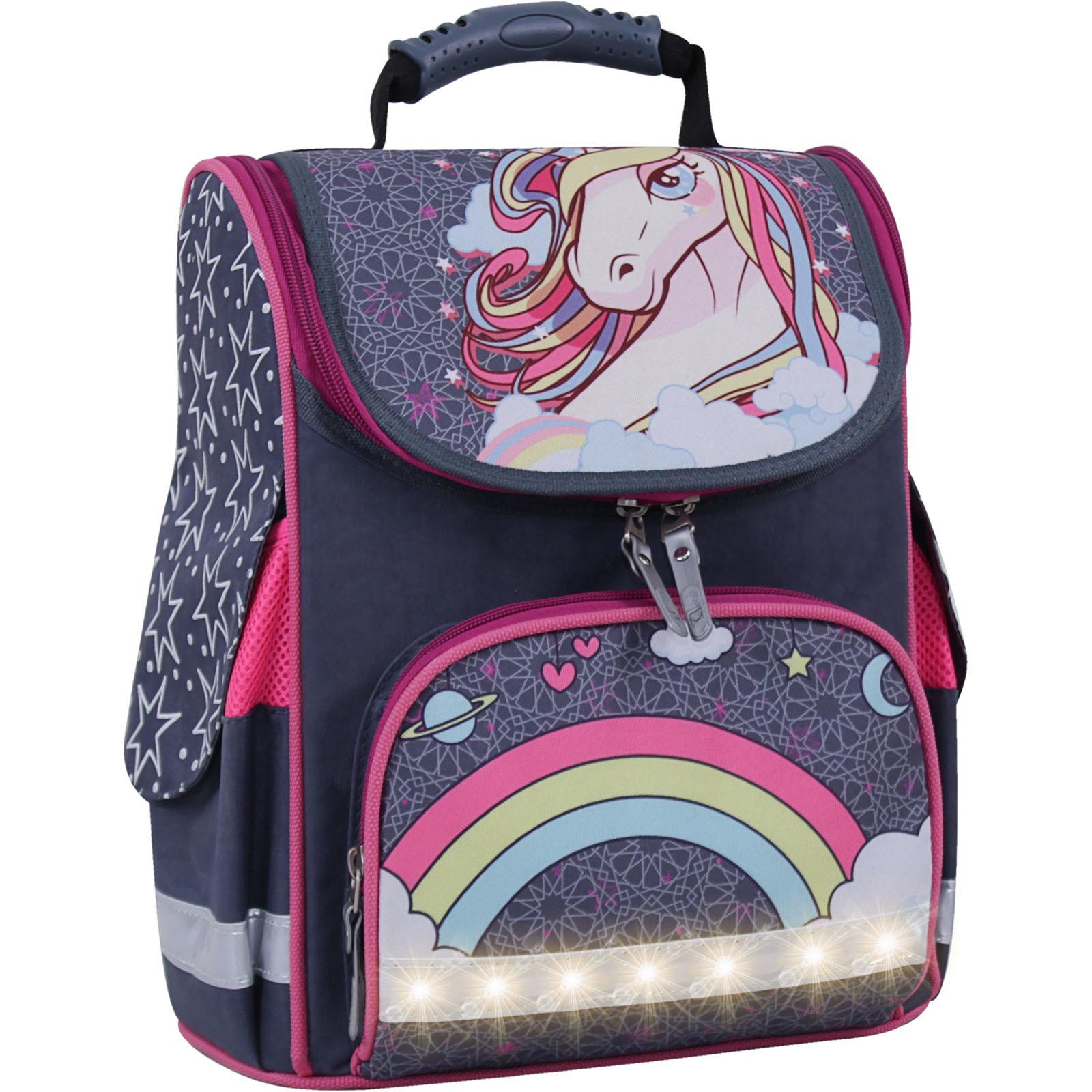 Для детей Рюкзак школьный каркасный с фонариками Bagland Успех 12 л. серый 511 (00551703) IMG_3785свет.суб511-1600.jpg