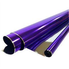 Пленка Металл 200гр / рулон 70 см * 7,1 м 40 мкм (Фиолетовая)