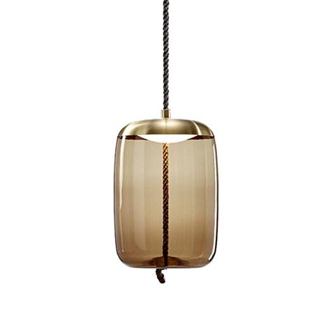 Подвесной светильник копия Knot Cilindro by Brokis (коньячный)
