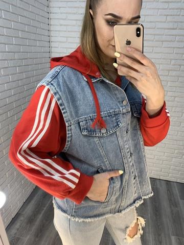 безрукавка джинсовая куртка недорого