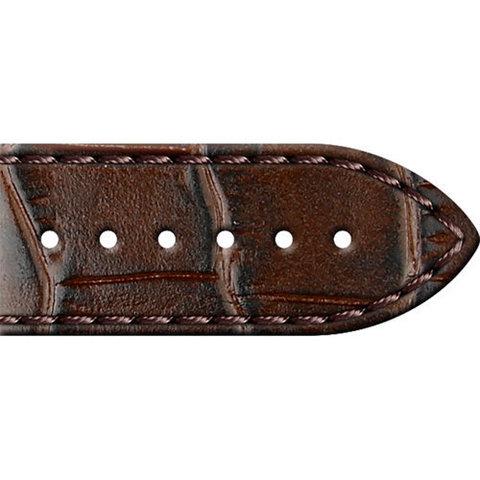 01.01.20.1-1.0.24-20.40.4 - Кожаный ремешок для часов выделка аллигатор,коричневый 24 мм