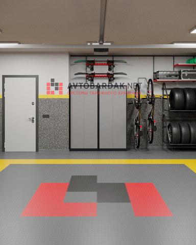 VR проект № 35: гараж 51 кв м (хранение инвентаря и большая рабочая зона)