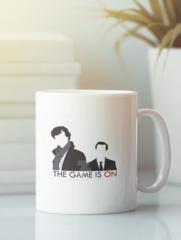 Кружка с рисунком Шерлок (Sherlock, Бенедикт Камбербэтч) белая 009