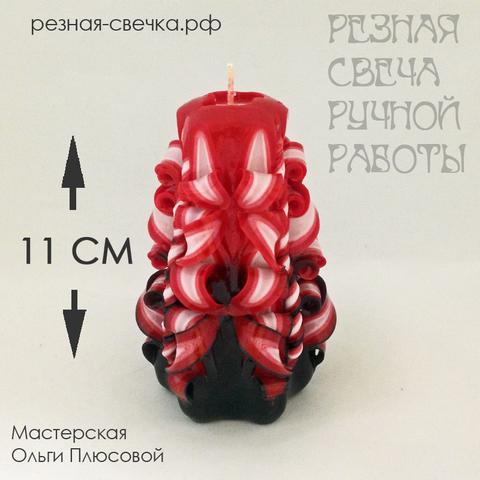 малая Резная свеча Фламенко  (пышные бантики) 11 см