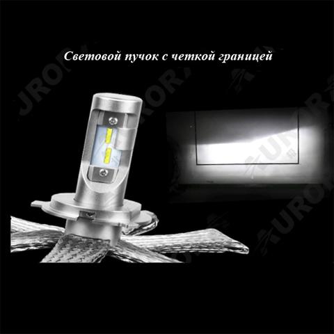 Светодиодные лампы H7 головного света Аврора  серия G10  ALO-G10-H7Z ALO-G10-H7Z  фото-2
