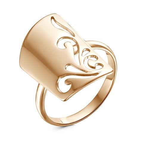 Кольцо с позолотой