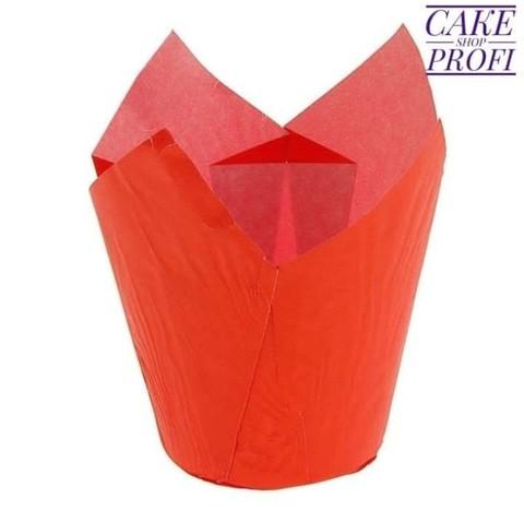 Форма бумажная Тюльпан Красная 50х80мм (20шт)