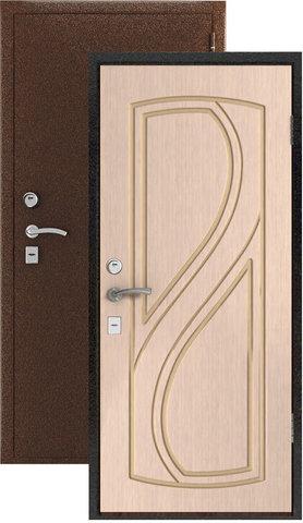 Дверь входная Стандарт стальная, беленый дуб, 2 замка, фабрика Владимирская фабрика дверей