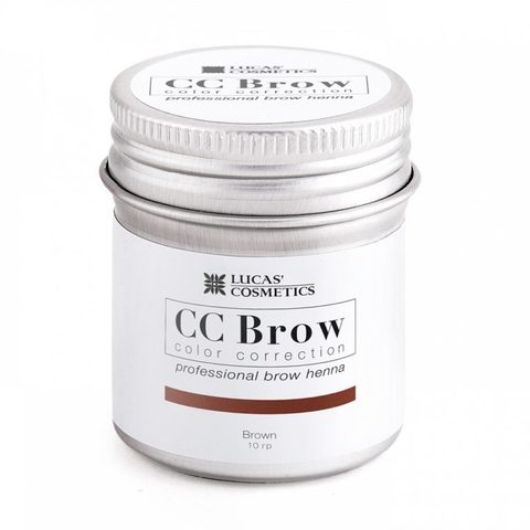 Хна для бровей CC Brow (brown) в баночке (коричневый), 10 гр