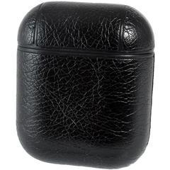 Чехол для Airpods 2 под кожу Protective Case (Черный)