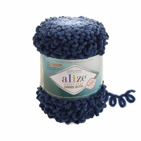 Пряжа Alize Puffy Fine Ombre Batik цвет 7266
